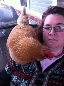 A chicken on my shoulder
