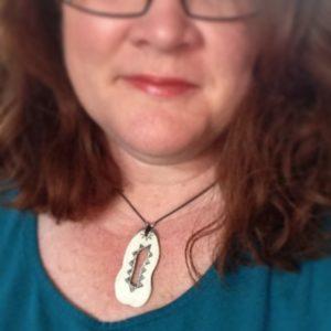 Wild boar ivory pendant from Desert Raven Art