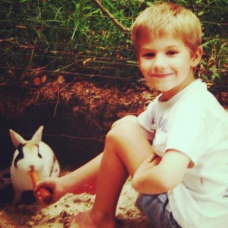 A boy and a bunny