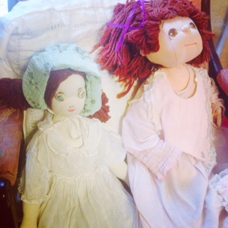 Heirloom dolls from childhood