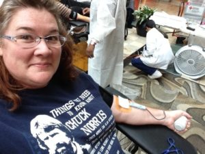 Saving lives by giving blood