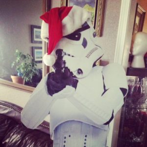 Christmas Storm Trooper wishes you a Merry Christmas!