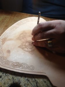 Celtic leather tooling