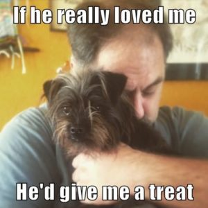 If he really loved me, he'd give me a treat