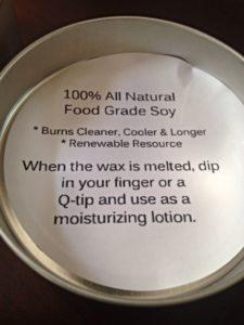 Soy based candle as moisturizer ROCKS.
