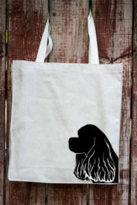 American Cocker Spaniel ToteTails canvas bag