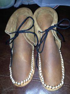 Handmade leather moccasins