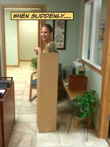 Nicole in a box - there's a story ...