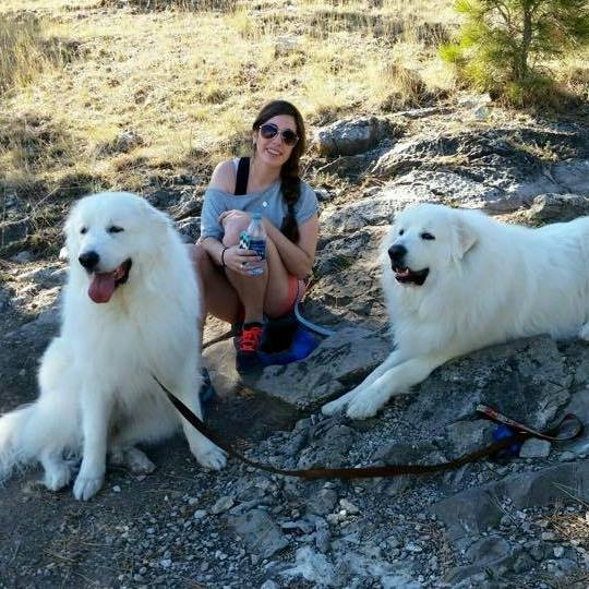 Kelsie and her Great Pyrenees, It's Dog or Nothing